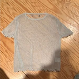 sparkly see through t shirt from pacsun